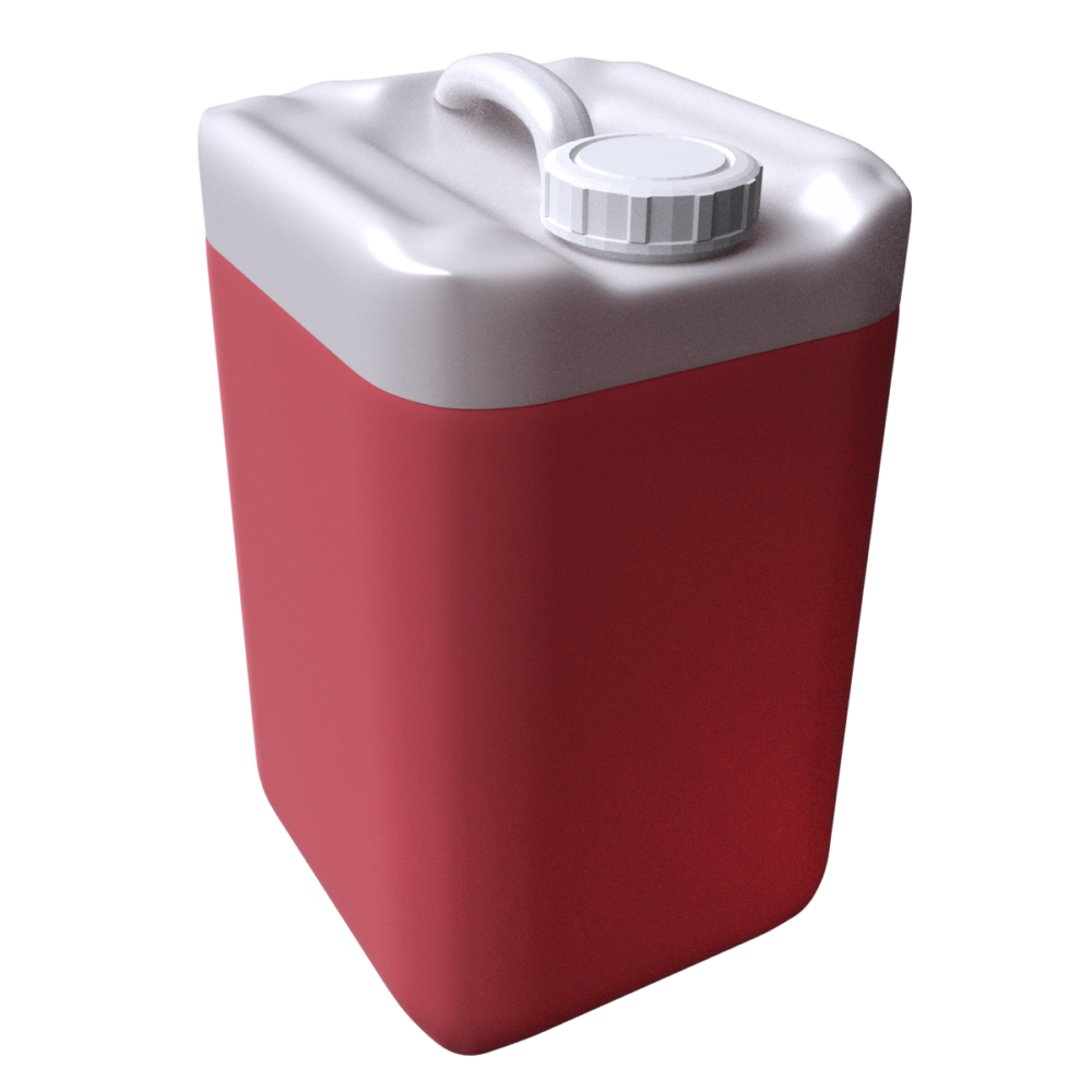 3d pail red